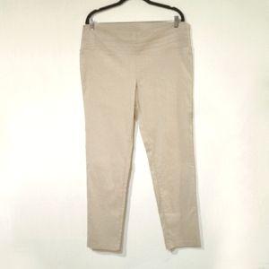 NWOT! Lily Morgan Light Tan Summer Pants XL